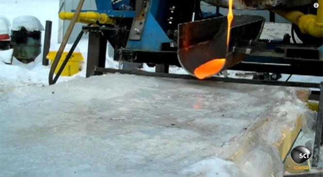 Τι συμβαίνει όταν η λάβα συναντά τον πάγο