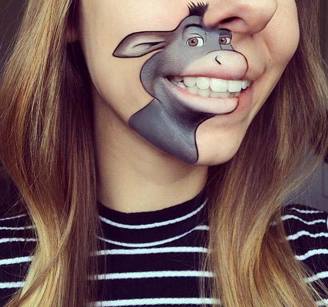 Η Laura Jenkinson χρησιμοποιεί μακιγιάζ για να μετατρέψει στόματα ανθρώπων σε χαρακτήρες cartoon (2)