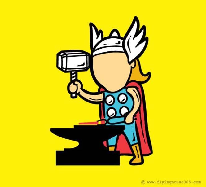 Αν οι super ήρωες είχαν καθημερινές δουλειές (9)