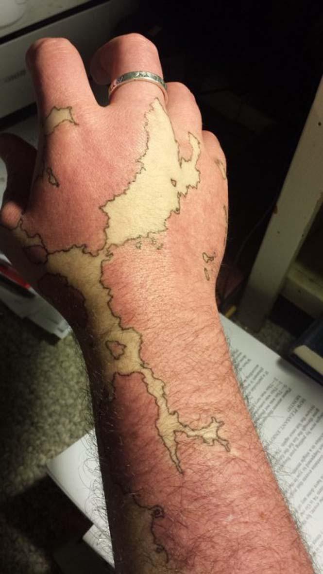 Άνδρας μετέτρεψε το εκ γενετής σημάδι του σε χάρτη ενός φανταστικού κόσμου (1)