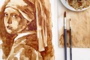 Εκπληκτικής λεπτομέρειας πορτραίτα που σχεδιάστηκαν αποκλειστικά με καφέ (1)