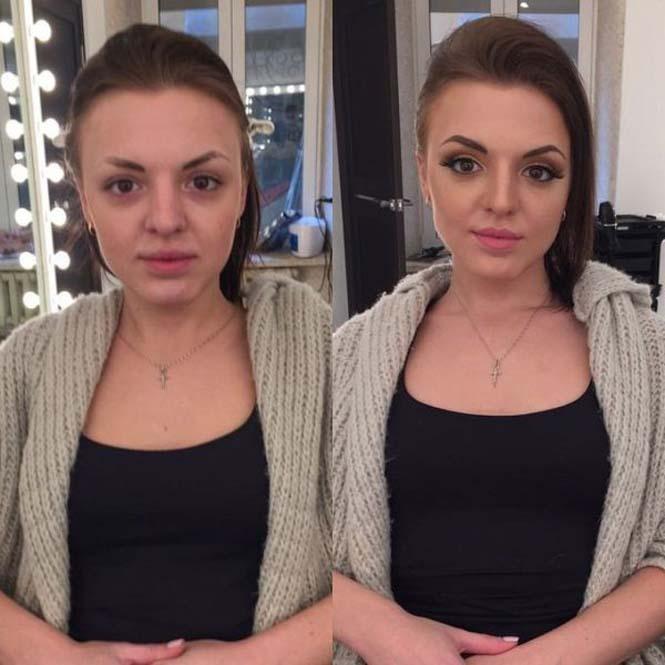 Εντυπωσιακές μεταμορφώσεις γυναικών με μακιγιάζ από τον Ravil Agmalov (2)