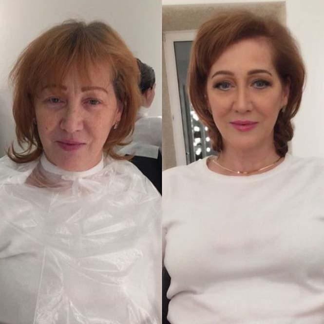 Εντυπωσιακές μεταμορφώσεις γυναικών με μακιγιάζ από τον Ravil Agmalov (7)