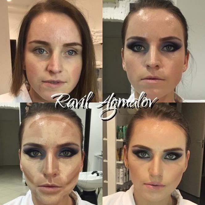 Εντυπωσιακές μεταμορφώσεις γυναικών με μακιγιάζ από τον Ravil Agmalov (22)