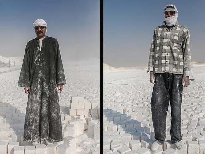 Οι εργάτες στα λατομεία ασβεστολίθου της Αιγύπτου έχουν ένα πολύ επικίνδυνο επάγγελμα (8)