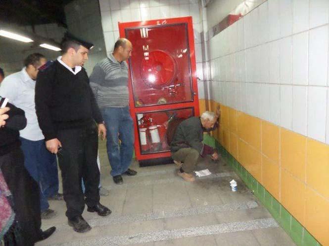 Γάτα είχε εγκλωβιστεί πίσω από τοίχο στο Μετρό για 5 χρόνια (2)
