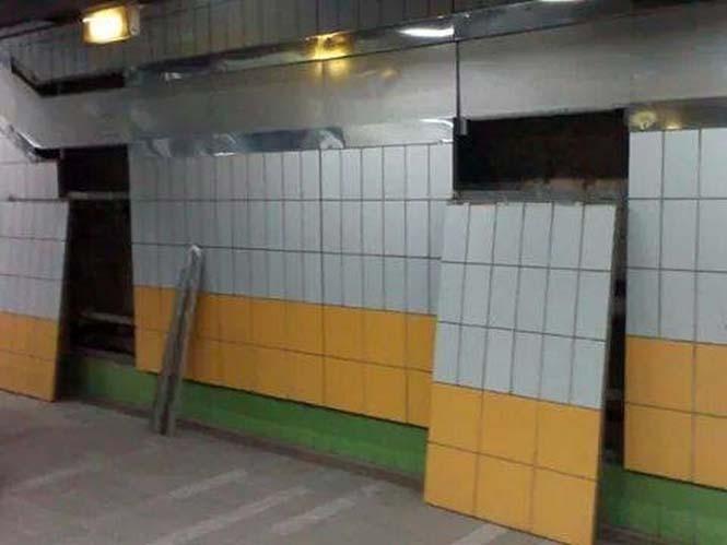 Γάτα είχε εγκλωβιστεί πίσω από τοίχο στο Μετρό για 5 χρόνια (6)