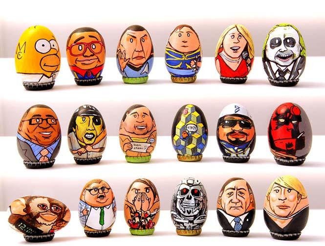 Καλλιτέχνης ζωγράφισε 62 απίθανους χαρακτήρες πάνω σε αυγά για το Πάσχα (2)