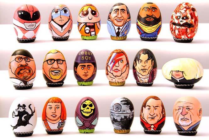 Καλλιτέχνης ζωγράφισε 62 απίθανους χαρακτήρες πάνω σε αυγά για το Πάσχα (3)