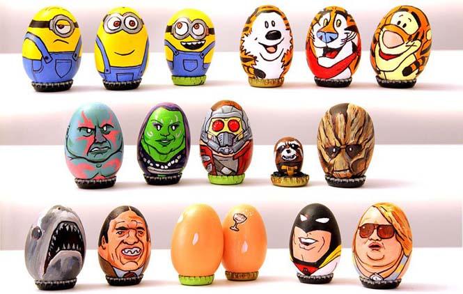 Καλλιτέχνης ζωγράφισε 62 απίθανους χαρακτήρες πάνω σε αυγά για το Πάσχα (4)