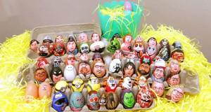 Καλλιτέχνης ζωγράφισε 62 απίθανους χαρακτήρες πάνω σε αυγά για το Πάσχα