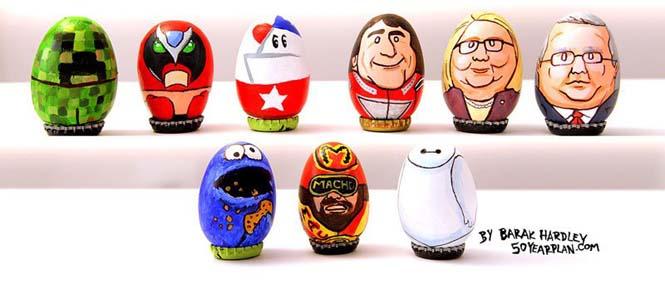 Καλλιτέχνης ζωγράφισε 62 απίθανους χαρακτήρες πάνω σε αυγά για το Πάσχα (5)