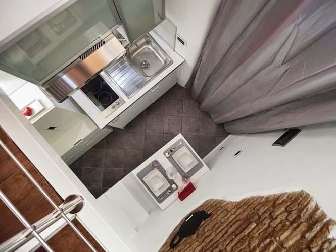 Μικροσκοπικό διαμέρισμα στη Ρώμη που έχει όλα τα απαραίτητα (5)