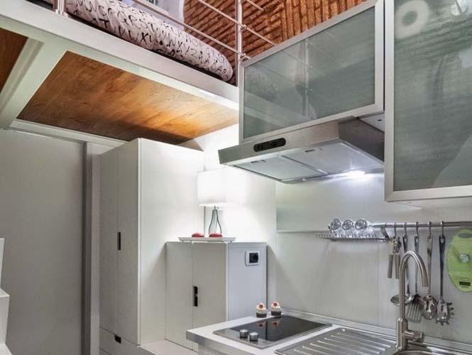 Μικροσκοπικό διαμέρισμα στη Ρώμη που έχει όλα τα απαραίτητα (6)