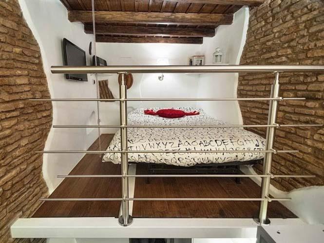 Μικροσκοπικό διαμέρισμα στη Ρώμη που έχει όλα τα απαραίτητα (9)