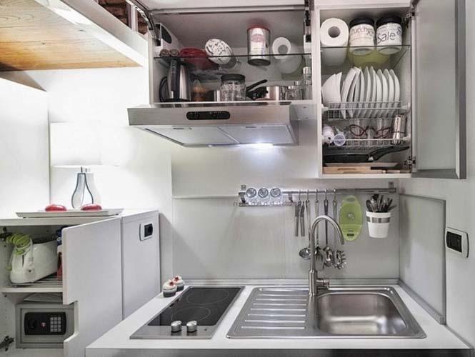Μικροσκοπικό διαμέρισμα στη Ρώμη που έχει όλα τα απαραίτητα (12)