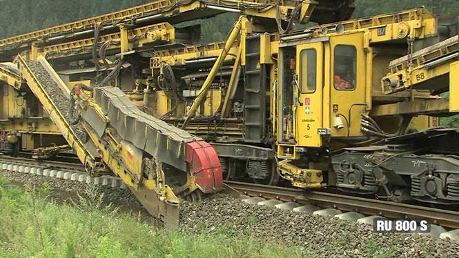 Το μηχάνημα που στρώνει σιδηρόδρομους