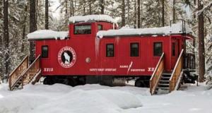 Παλιό βαγόνι τρένου μετατράπηκε σε μικρό ξενοδοχείο