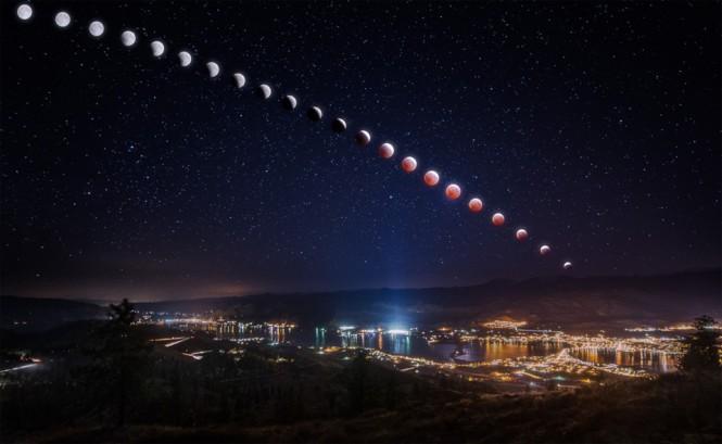 Όταν το φεγγάρι γίνεται κόκκινο - Έκλειψη Σελήνης | Φωτογραφία της ημέρας