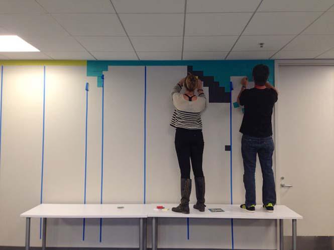 Ένας πρωτότυπος τρόπος για να δώσεις χρώμα σε ένα μουντό χώρο γραφείων (12)