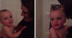 Η απίθανη αντίδραση ενός μωρού που βλέπει για πρώτη φορά τη δίδυμη αδερφή της μαμάς του (Video)