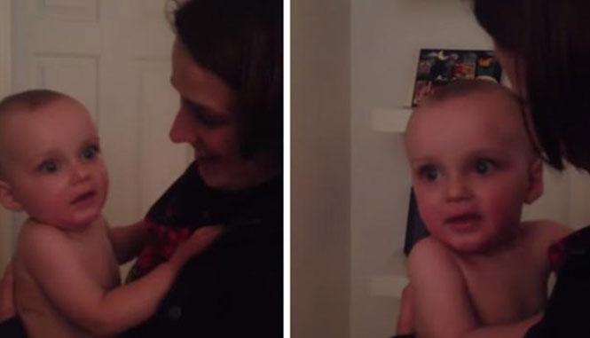 Η απίθανη αντίδραση ενός μωρού που βλέπει για πρώτη φορά τη δίδυμη αδερφή της μαμάς του