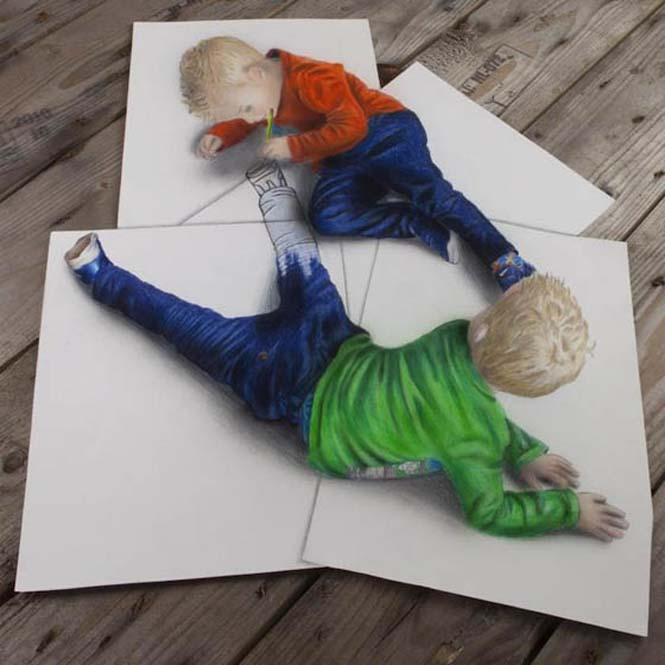 Εκπληκτικές 3D ζωγραφιές που «βγαίνουν» απ' το χαρτί #5 (4)