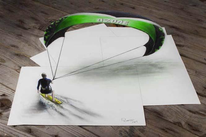 Εκπληκτικές 3D ζωγραφιές που «βγαίνουν» απ' το χαρτί #5 (5)