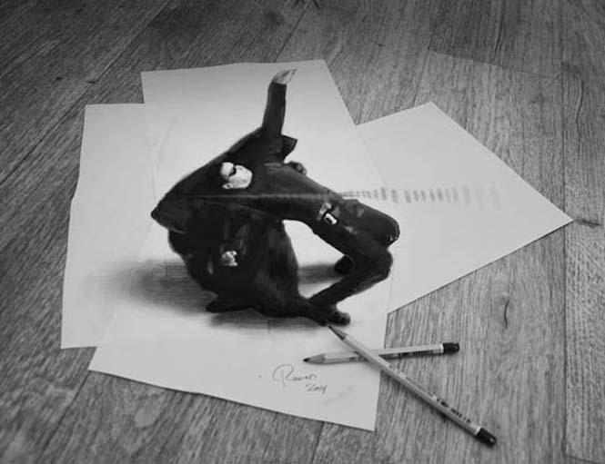 Εκπληκτικές 3D ζωγραφιές που «βγαίνουν» απ' το χαρτί #5 (6)