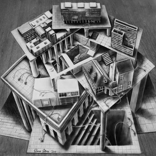 Εκπληκτικές 3D ζωγραφιές που «βγαίνουν» απ' το χαρτί #5 (7)
