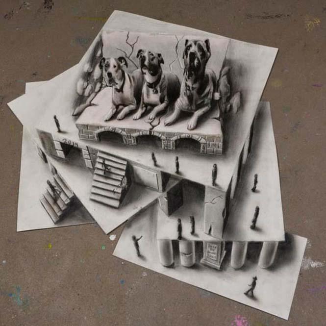 Εκπληκτικές 3D ζωγραφιές που «βγαίνουν» απ' το χαρτί #5 (8)