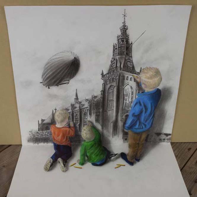 Εκπληκτικές 3D ζωγραφιές που «βγαίνουν» απ' το χαρτί #5 (9)