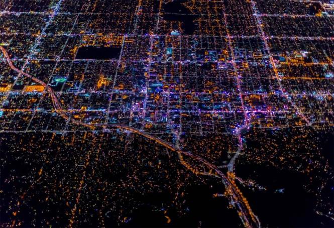 Το νυχτερινό Λος Άντζελες από ψηλά   Φωτογραφία της ημέρας