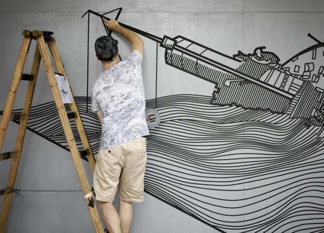 Τέχνη του δρόμου με μονωτική ταινία (2)