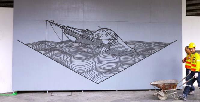 Τέχνη του δρόμου με μονωτική ταινία (3)