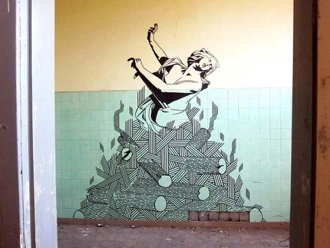 Τέχνη του δρόμου με μονωτική ταινία (9)