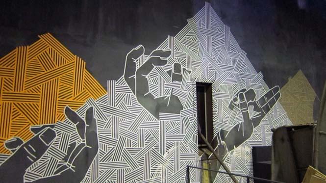 Τέχνη του δρόμου με μονωτική ταινία (11)