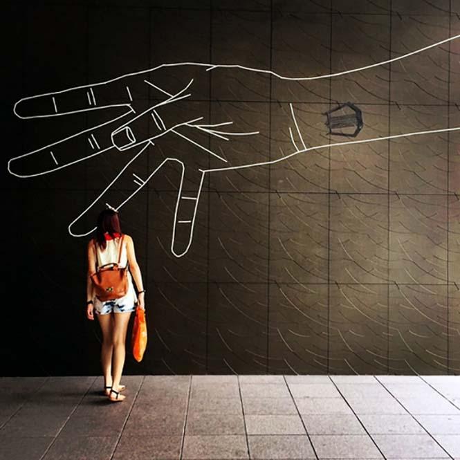 Τέχνη του δρόμου με μονωτική ταινία (13)