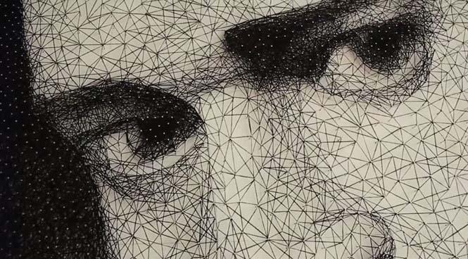 Καλλιτέχνης τύλιξε 24 χιλιόμετρα νήματος γύρω από 13.000 καρφιά για να δημιουργήσει κάτι εκπληκτικό (10)