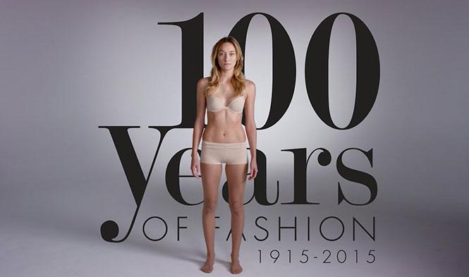 100 χρόνια γυναικείας μόδας σε 2 λεπτά