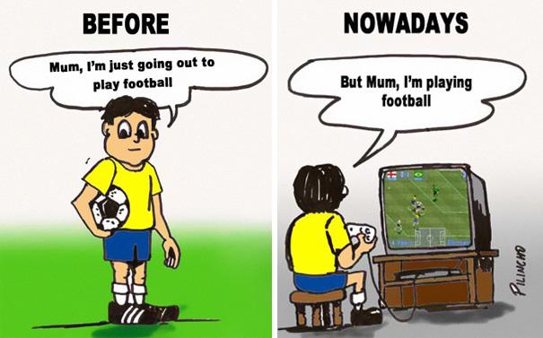 Αστεία σκίτσα που δείχνουν πόσο άλλαξε ο κόσμος (9)