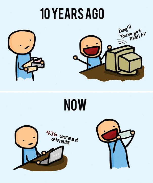 Αστεία σκίτσα που δείχνουν πόσο άλλαξε ο κόσμος (24)