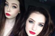 Η διαφορά δυο κοριτσιών με / χωρίς μακιγιάζ (2)