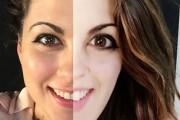 Γυναίκες δοκιμάζουν Photoshop στο πρόσωπο τους