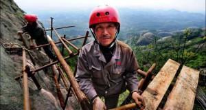 Κατασκευάζοντας ένα ορεινό μονοπάτι στην Κίνα