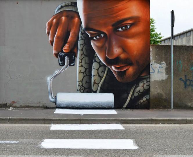 Έξυπνο graffiti σε διάβαση πεζών   Φωτογραφία της ημέρας