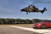 Porsche κοντράρεται με 2 ελικόπτερα