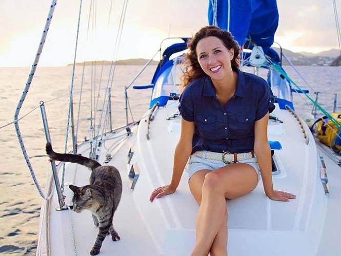 Ζευγάρι παραιτήθηκε από τις δουλειές του και πούλησε τα πάντα για να ταξιδέψει στον κόσμο με την γάτα τους (13)
