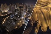 Εν τω μεταξύ, πάνω σε έναν γερανό στο Dubai...