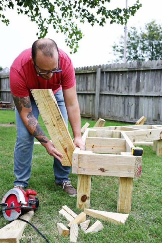 Κατασκευή σετ κήπου που κόστισε ελάχιστα (5)